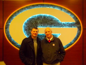 with Chad Brinker at Lambeau Field