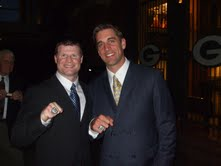 Chad Brinker with Aaron Rodgers