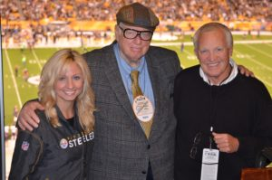 Daughter with Art Rooney Jr. and John